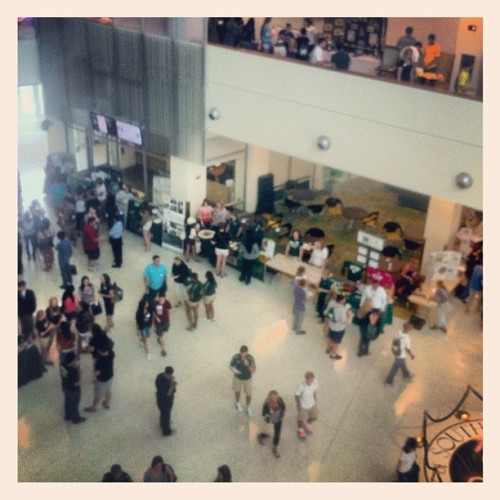 kevinyurasek:  Discover USF Showcase @ USF Orientation (Taken with instagram)