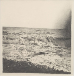 "Becca Mann,  Seascape, 2009. Graphite on paper, 11.25"" x 11.75""."