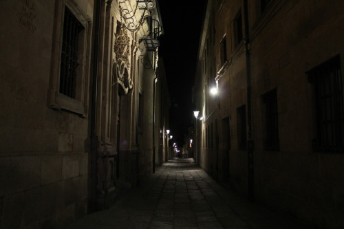 A winding urban road. Salamanca, Spain. Summer 2012.