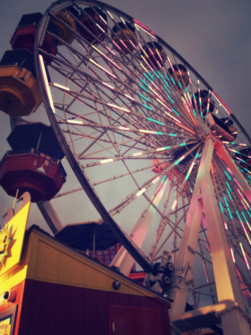 The ferris wheel on the Santa Monica Pier