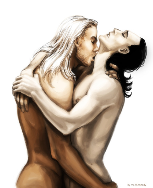 maxkennedy24:  Thor x Loki just another anatomy study =)