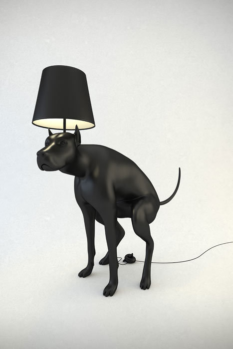 pricklylegs:  laughingsquid:  Pooping Dog Lamps by Whatshisname   This is art.