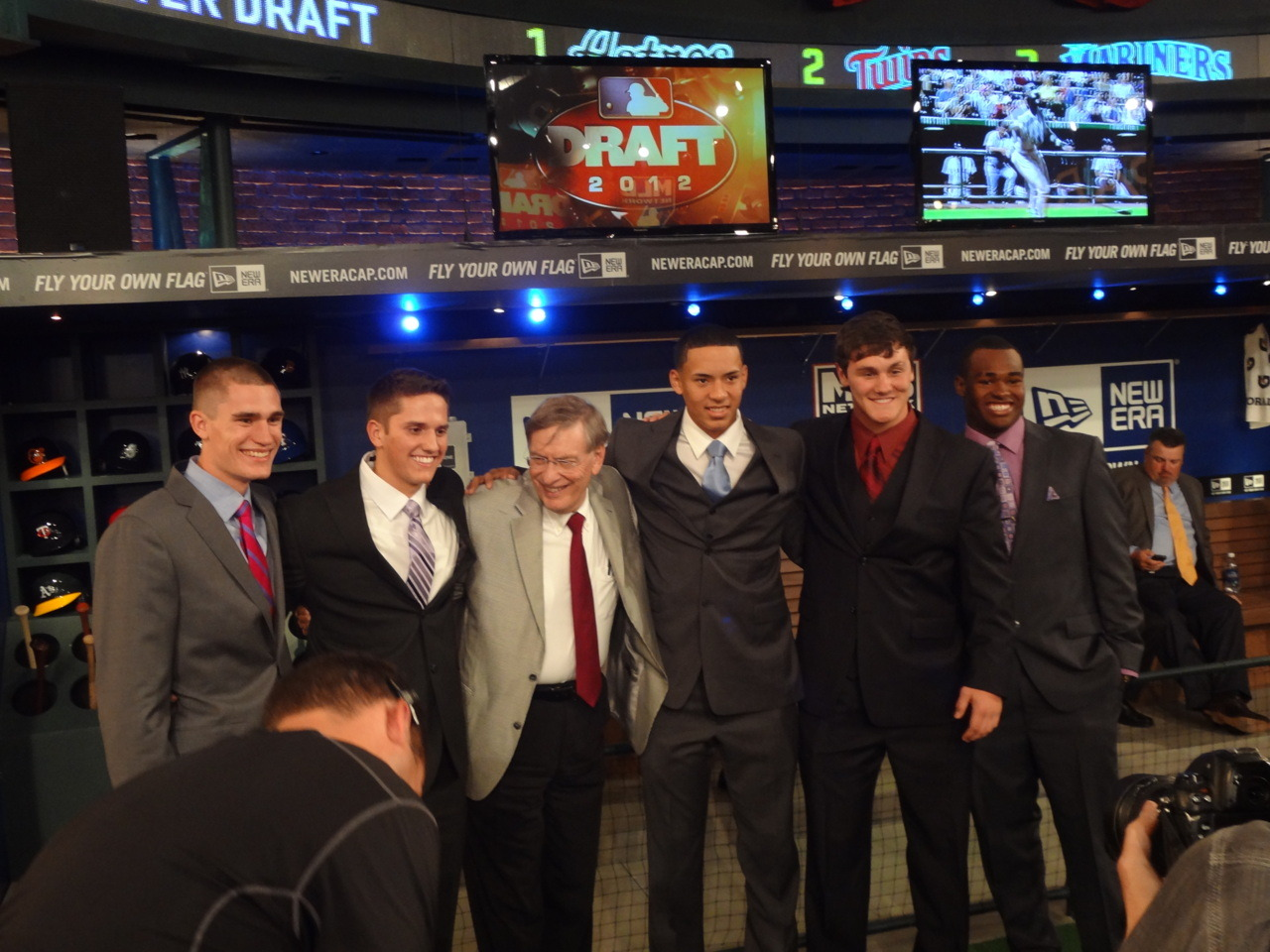 Bud Selig with MLB 2012 First Year Player Draft Prospects