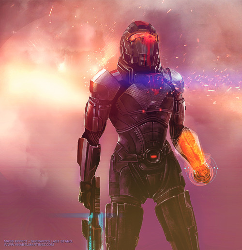 piratereject: Shepard's Last Stand - Mass Effect 3 I'm late posting this. :) More stuff coming soon, I've just been swamped with convention season! Website  What a beautiful Shepard piece!
