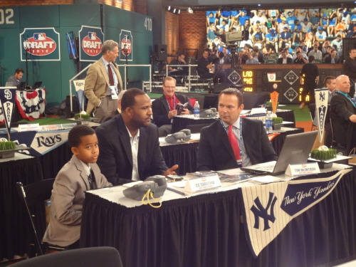 Yankees draft representative CC Sabathia is in MLB Network's Studio 42 before the 2012 MLB First Year Player Draft