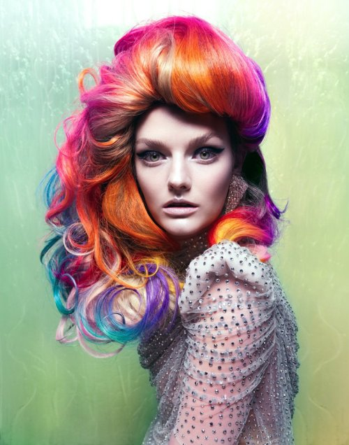 modelinia:  Rainbow Brite! Lydia Hearst for Vixen Magazine
