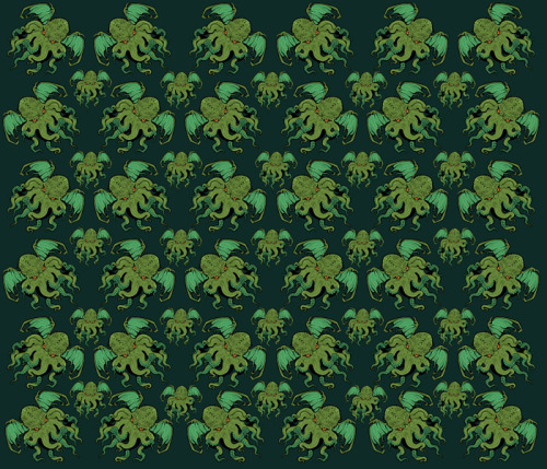 cthulhu fabric by miss monster