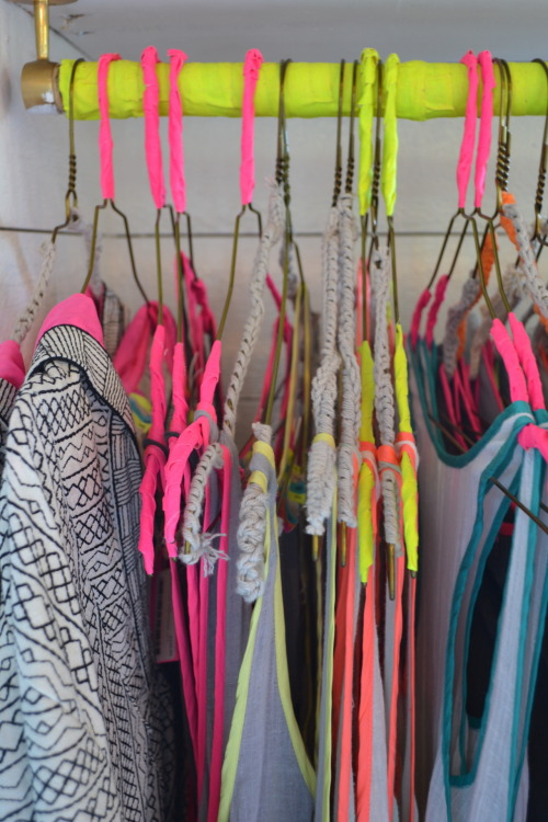 Neon trims in harmony at the Surf Bazaar store in Montauk. WGSN store shot