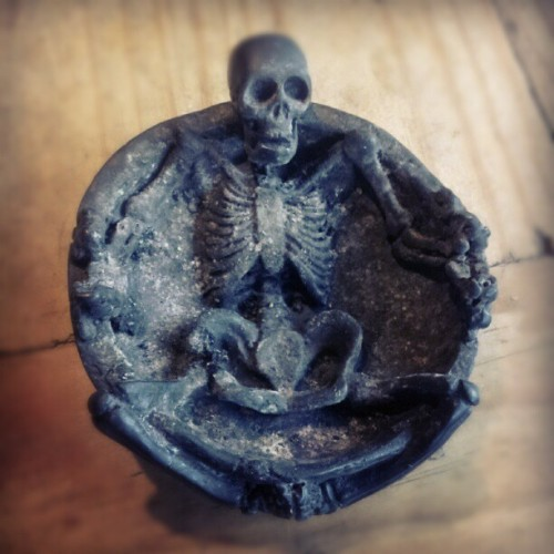 #ashtray #skeleton  (Taken with instagram)