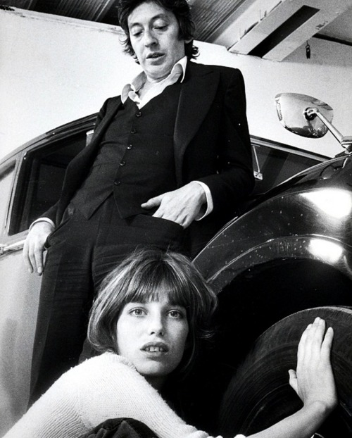 Serge Gainsbourg and Jane Birkin by Benjamin Auger