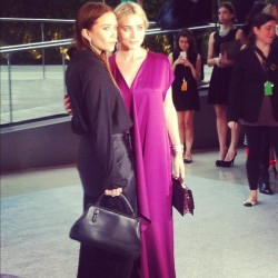 cfda:  Mary Kate and Ashley Olsen at the 2012 CFDA Awards Taken with instagram