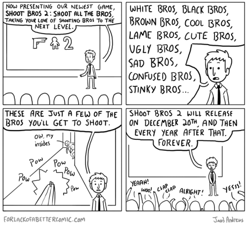 forlackofabettercomic:  Been watching the E3 coverage today, and this is the basic conclusion I have drawn about the future of gaming as a whole.