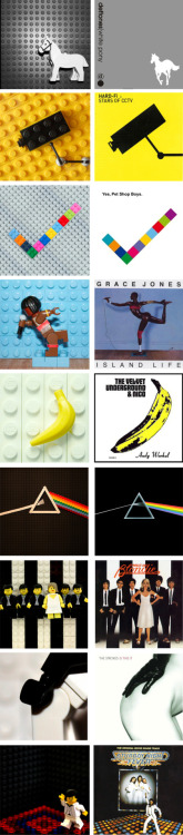 visualgraphic:  Lego Album Covers