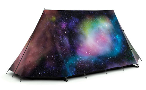 lickystickypickywe:  This 800 dollar tent would be way cooler if this galaxy was actually printed on the inside too. Available here. Only 195 made, so you have to be quick.