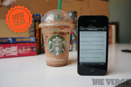 thisistheverge:  Good Deal: Instapaper is Starbucks' free app of the week