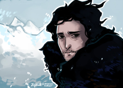 sketchlock:  mlysza:  jon snow speed paint, and sweet jesus i'm still freaking out about the season finale.