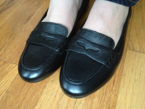 New loafers. I'm taking style tips from the old dudes in my neighborhood. These will look pretty sweet with a loud print button down.