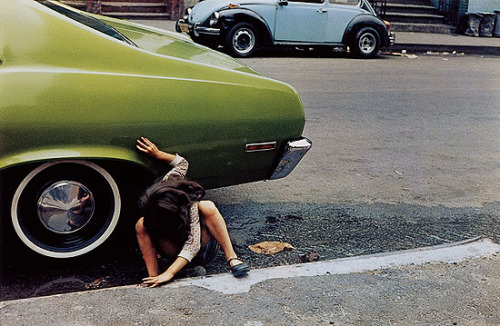 steroge:  Untitled, New York (spider girl, green car), 1980 Helen Levitt