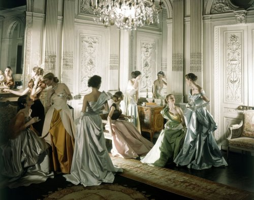 Photograph by Cecil Beaton Dresses by Charles James for Vogue June 1948