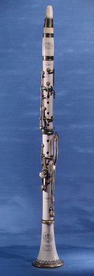 "beautifulinstruments:  Ivory and brass clarinet, 1830, hnnnggg. ""Ngk,"" to quote Crowley. Ngk, indeed. Let me approximate how many feels: all of them. All of the feels."