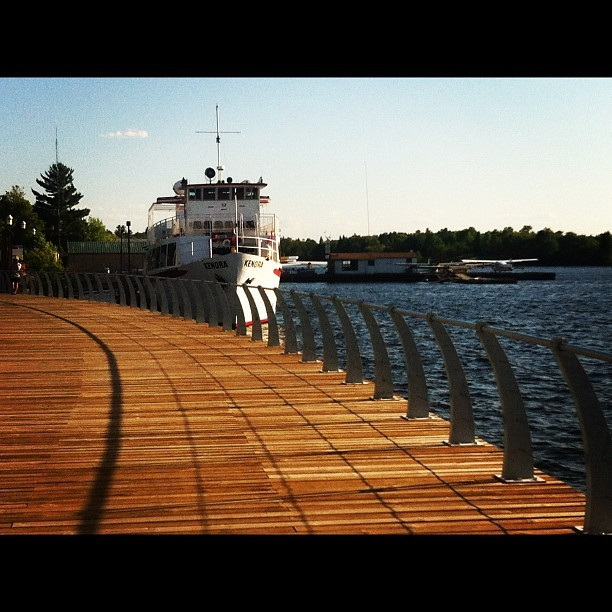MS Kenora parked at the new Harbourfront boardwalk. nerutronstarcollision:  #lake #kenora #ontario #Canada #boat