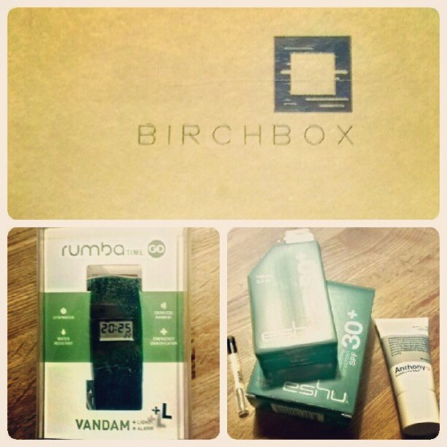 My @birchboxman came today! #birchbox #rumbatime #rumba #time #watch #grooming (Taken with instagram)