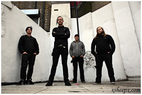 Cancer Bats outside the Old Blue Last in Shoreditch, London. They were playing some Atticus sponsored night, but I forget when it was…