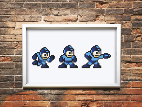 "Mega Man. Jon E. Allen.4-color Screenprint.Cougar Bright White 100#. 12x18"". Edition of 100. 2012. Pre-Order"