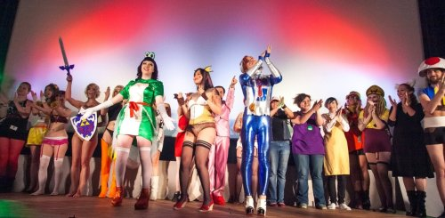 "Curtain call at ""Super Smash Burlesque"": A Night of Nintendo Debauchery! June 2, 2012Photo by Air'leth Aodhfin (Jammcat Photography)"