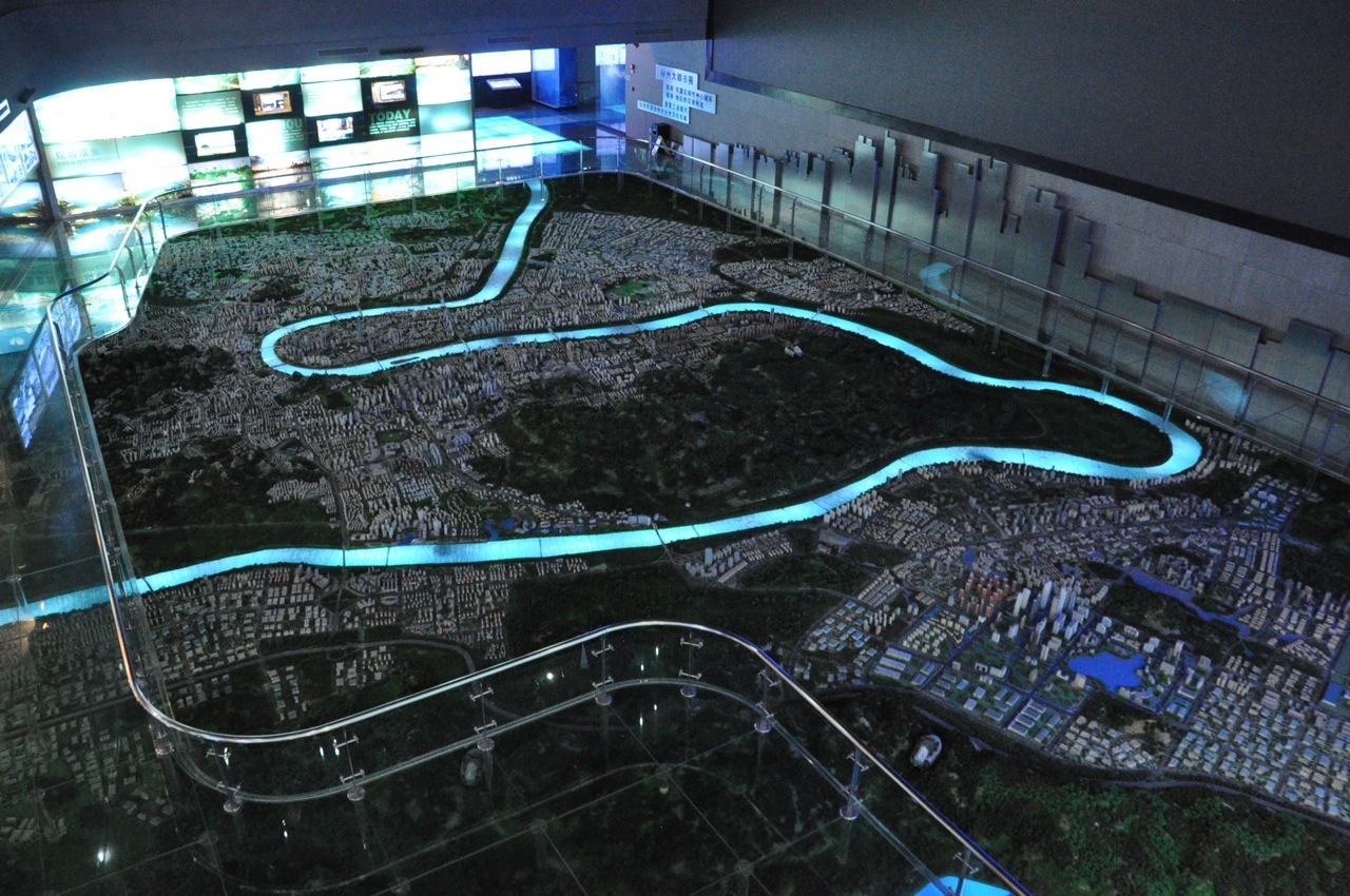 urban planning exhibition hall, liuzhou, guangxi