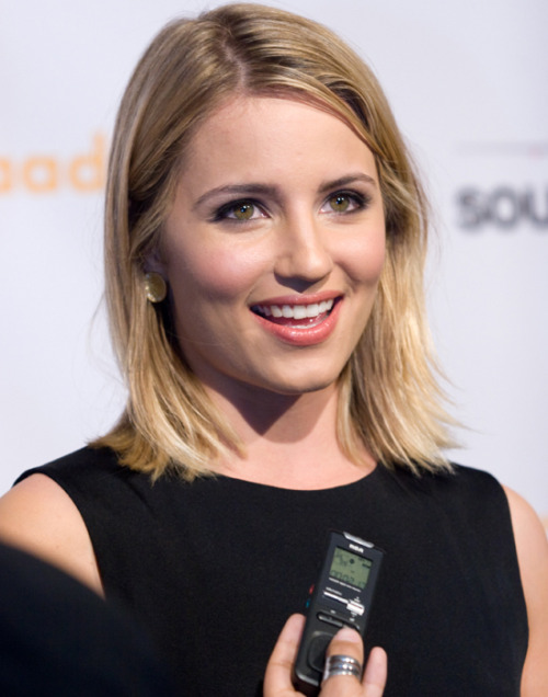 "dorothy-snarker:  Dianna Agron interview with AfterEllen.com at the GLAAD Media Awards in San Francisco. AfterEllen.com: So I have to ask you about Faberry, there are legions of people who are fans of the Quinn-Rachel relationship. Tell me about them and do you hear a lot from them and what you think about their championing of that coupling?Dianna Agron: I mean we hear about it, especially at events like this. I think I definitely understand. Sometimes you're watching a show and you really like relationships between people and you wish there was more. It's very flattering. It was so crazy when we were winning those polls and beating real on-screen couples. But I've had so much fun with Lea and I think that's a testament to that. AE: Are there nods to that on the show? There was that scene where Santana says, ""Stop making out with Berry.""DA: I know. I think maybe the writers are having fun with that a little bit. But I think also too they were a very unlikely friendship and the fact that they did find their place, I think definitely opened doors for people's imagination. I had a girl who came up to me once and said, ""I felt like Rachel in high school and there was a Quinn and I always felt she wouldn't be nice to me. And then I was watching your show. And I blew out the door. And now she's one of my best friends."" So I think that is special and it's very sweet. READ THE FULL INTERVIEW HERE"