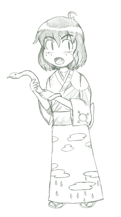 xanadoesthings:  I drew a child Kanako because I wanted to.