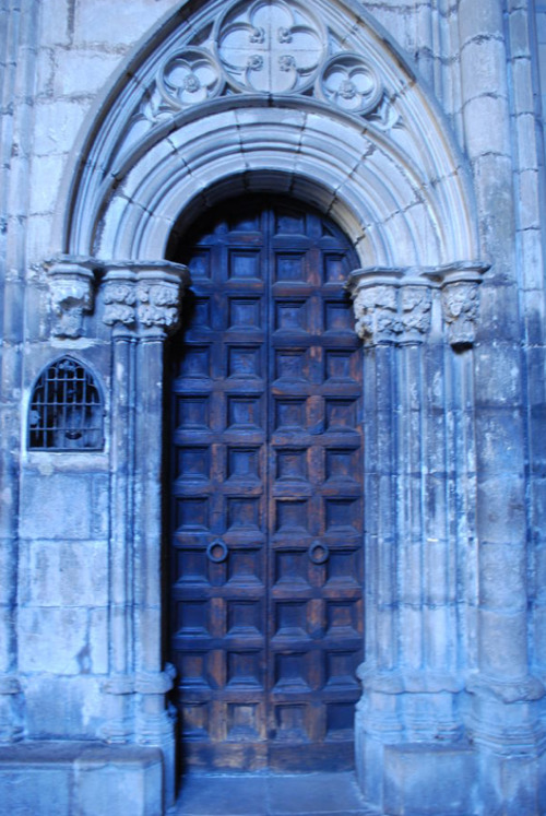Old Cathedral Door in Barcelona. By Dorota Nowak