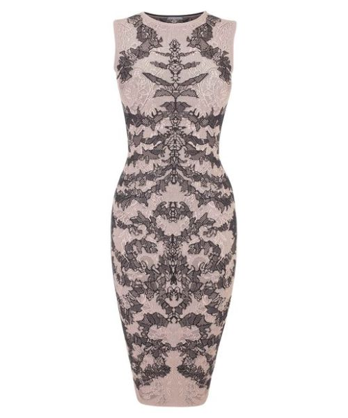 callieeeefornia:  Jacquard pencil dress- Alexander Mcqueen