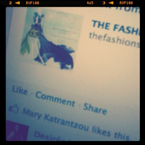 She liked it! thefashionskitch.blogspot.com #illustration #fashion #marykatrantzou #drawing #blogging  (Taken with instagram)