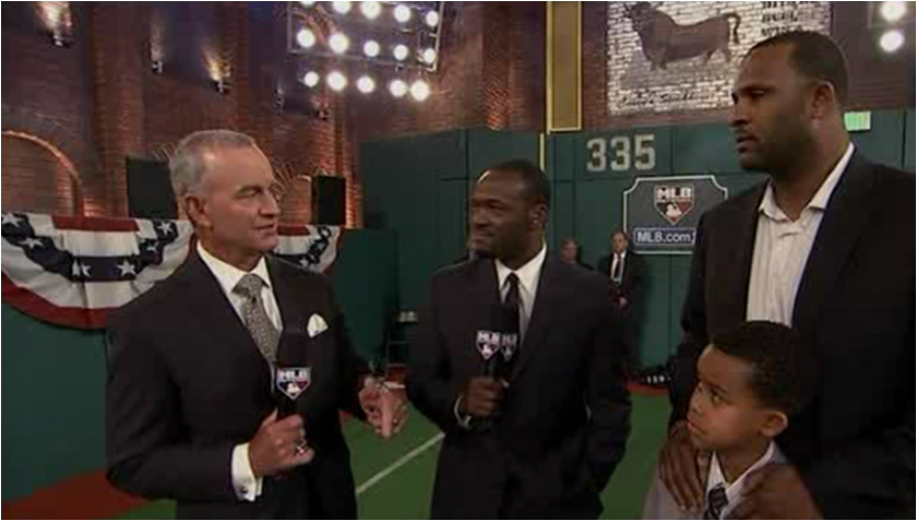 Harold Reynolds and John Hart catch up with CC Sabathia at the MLB Draft