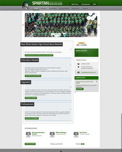 My kid's high school band site seriously needed a makeover. Now the boosters and the band officers can help the director keep the site current. Jomsocial to the rescue.