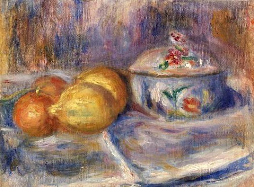 Pierre-Auguste Renoir Fruit and Bonbonnière 1915-17