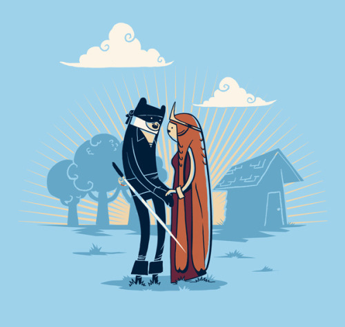 As you wish. The Princess Bride/Adventure Time mash-up illustrated by Michael B. Myers Jr. :: via slaterman23