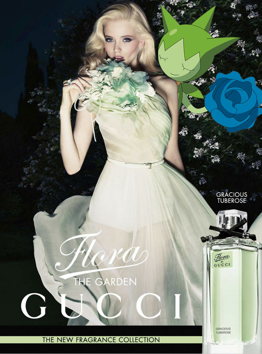 flora by gucci garden - tuberose; abbey lee kershaw & roselia