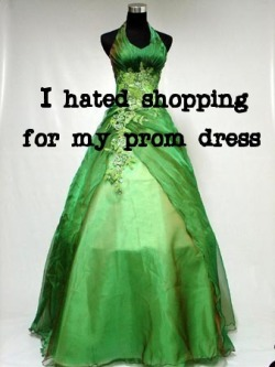 "Fat Girl Confessions #2: ""I hated shopping for my prom dress ""   Remember to send in submissions :). Also, I am thinking about making the confessions everyday or every other day or Every Friday/Saturday?"