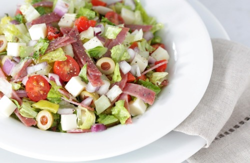 chopped muffuletta salad from The Fromagette