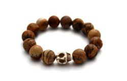 Picture jasper bracelet available exclusively at Homegrown Boutique in Yorkville!