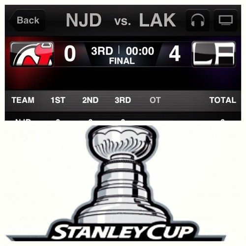 One more win and the big #StanleyCup is ours!!!!! #LAKings #NHL #LAKNJD #StanleyCupFinals  (Taken with instagram)