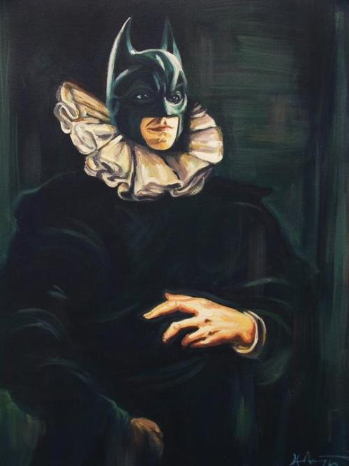 "ianbrooks:  Bat Brueghel by Hillary White / wytrab8 Prints available at society6. Based on Anthony Van Dyck's ""Portrait of Jan Brueghel"".  Artist: tumblr / deviantart / redbubble"