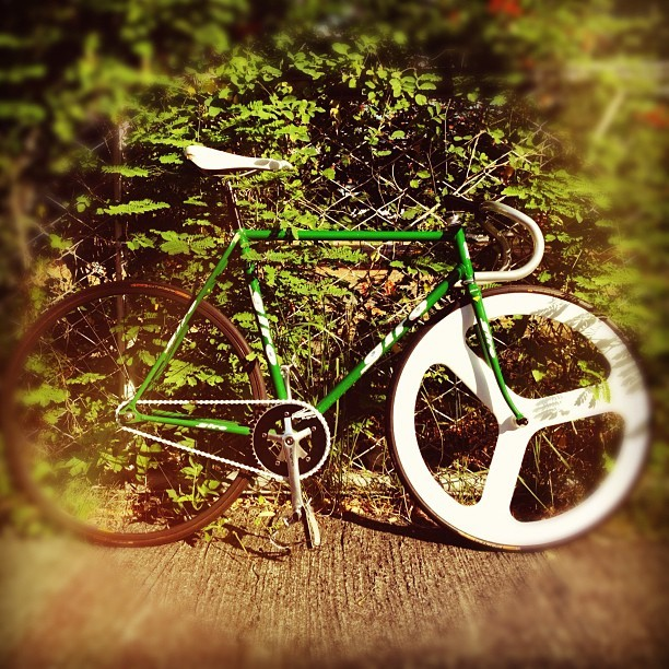 good morning fixie! (fixed gear bike)