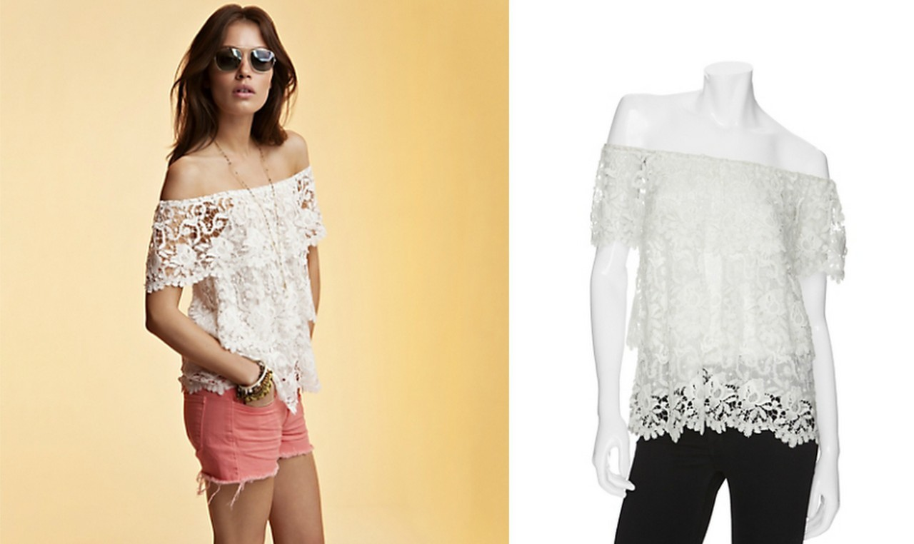Miguelina Lace Top well-played intermix.