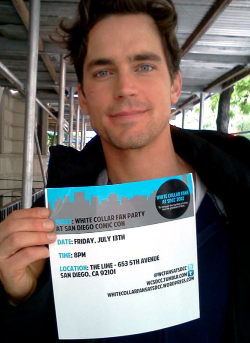 Let Matt Bomer tell you about our White Collar party at SDCC!