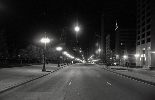 Crossing roads, Chicago, Winter 2011.