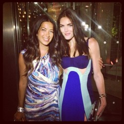 Rebecca Minkoff with Hilary Rhoda, in a dress by the designer. Photo by David X. Prutting / BFAnyc.com